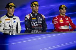 1. Luca Ghiotto, RUSSIAN TIME; 2. Sergio Sette Camara, MP Motorsport; 3. Antonio Fuoco, PREMA Powert