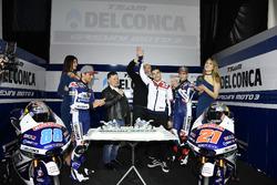 Jorge Martín, Gresini Racing Team and Fabio Di Giannantonio, Gresini Racing Team with Fausto Gresini, Team Manager and Jorge Navarro, Federal Oil Gresini Moto2