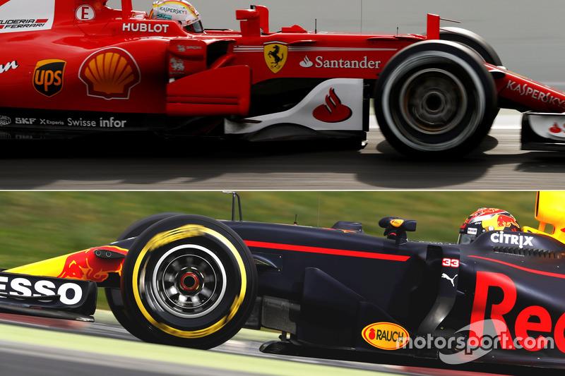 Red Bull Racing RB13 & Ferrari SF70H bargeboards
