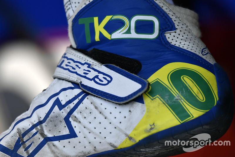 Schuhe von Tony Kanaan, Chip Ganassi Racing, Honda