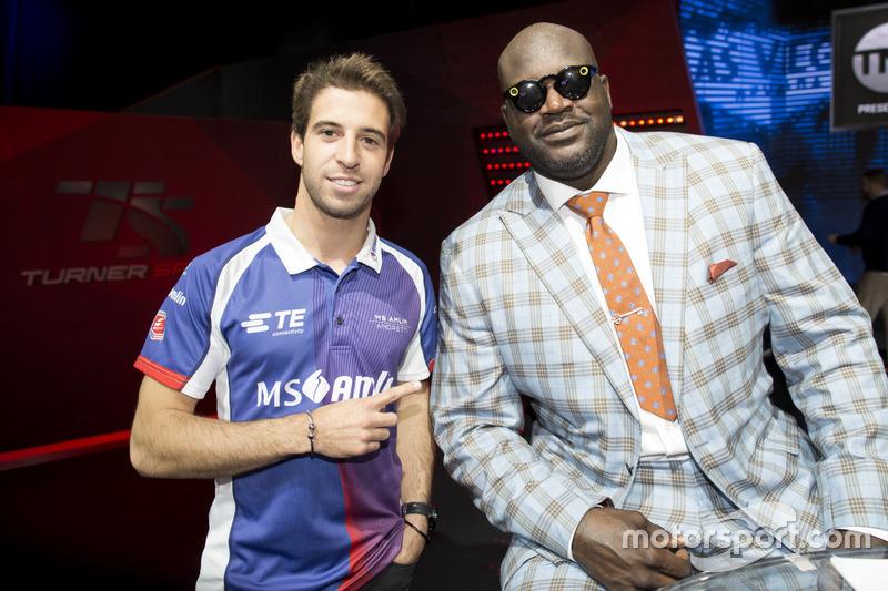 Antonio Felix da Costa, Amlin Andretti Formula E Team, puntos a la leyenda del baloncesto Shaquille