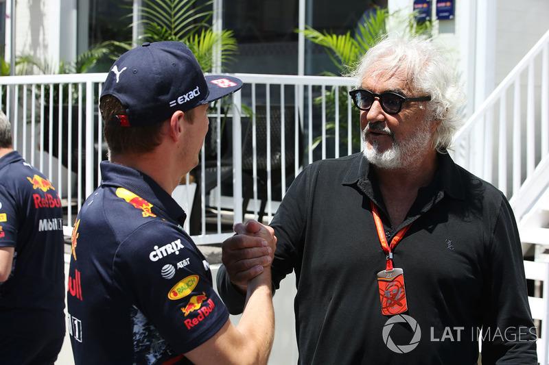 Max Verstappen, Red Bull con Flavio Briatore