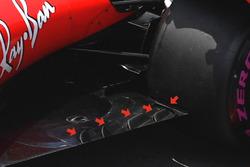 Ferrari SF70H, sidepods detail