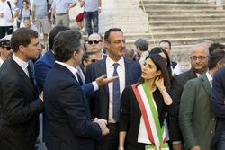 Presentazione dell'ePrix di Roma alla presenza del sindaco di Roma Virgina raggi