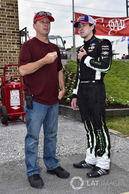 Ryan Blaney, Team Penske, Ford, mit Vater Dave Blaney