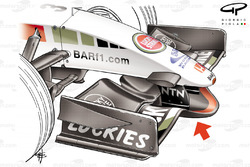BAR 007 2005 front wing and nose