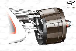 Sauber C29 front brake duct