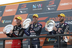 Podium: Race winner Jamie Whincup, Triple Eight Race Engineering Holden, second place Garth Tander, Holden Racing Team, third place Shane van Gisbergen, Triple Eight Race Engineering Holden