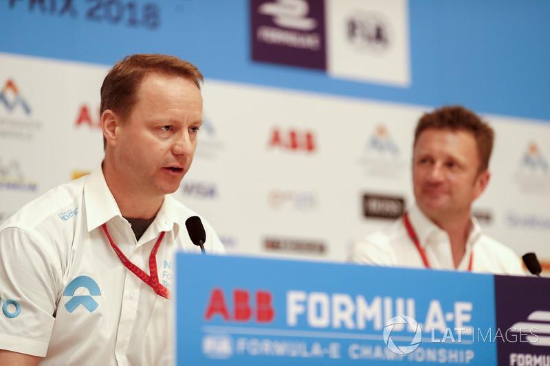 Press conference with Gary Hughes, Team Principal NIO Formula E Team, Allan McNish, Team Principal, Audi Sport Abt Schaeffler