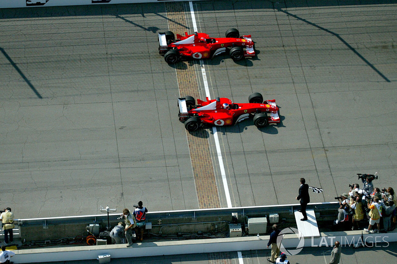 2002 - Indianapolis: Rubens Barrichello, Ferrari F2002