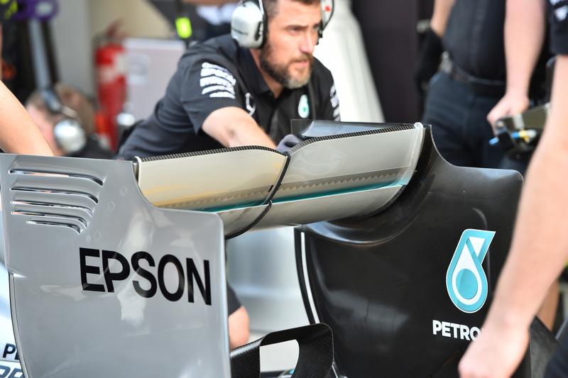 Aileron arrière de la Mercedes AMG F1 W06
