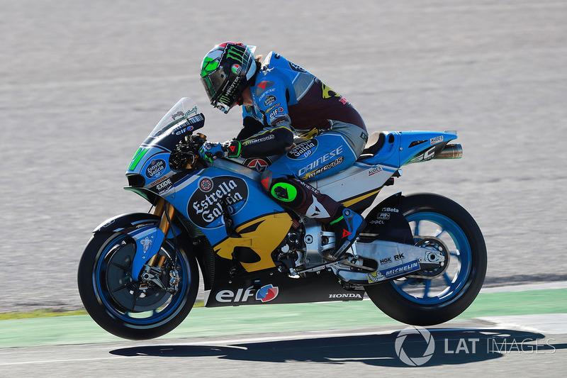 Franco Morbidelli, Estrella Galicia 0,0 Marc VDS, both wheels in air