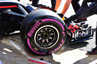 Red Bull Racing RB14 front wheel and Pirelli tyre