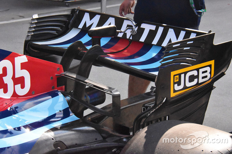 Williams FW41 rear wing detail