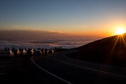 Il sole sorge sulla Pikes Peak