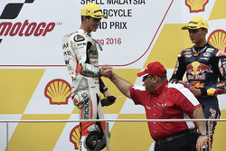 Podium: 1. Francesco Bagnaia, Aspar Team Mahindra Moto3, Mufaddal Choonia, Aspar Team Mahindra