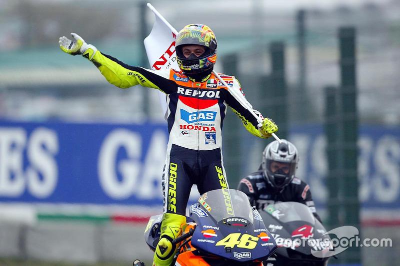 Race winner Valentino Rossi
