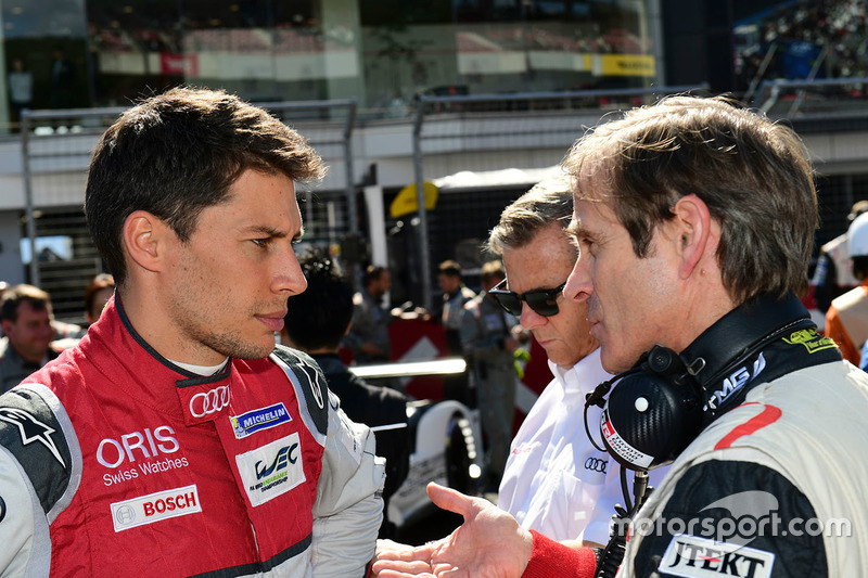#8 Audi Sport Team Joest Audi R18 e-tron quattro: Loic Duval and Pascal Vasselon, Toyota Motorsport Gmbh Technical Director