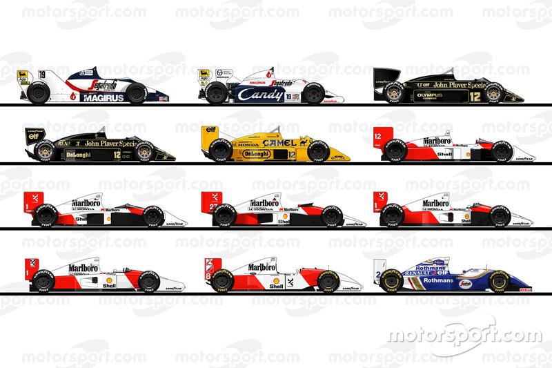 Les F1 pilotées par Ayrton Senna