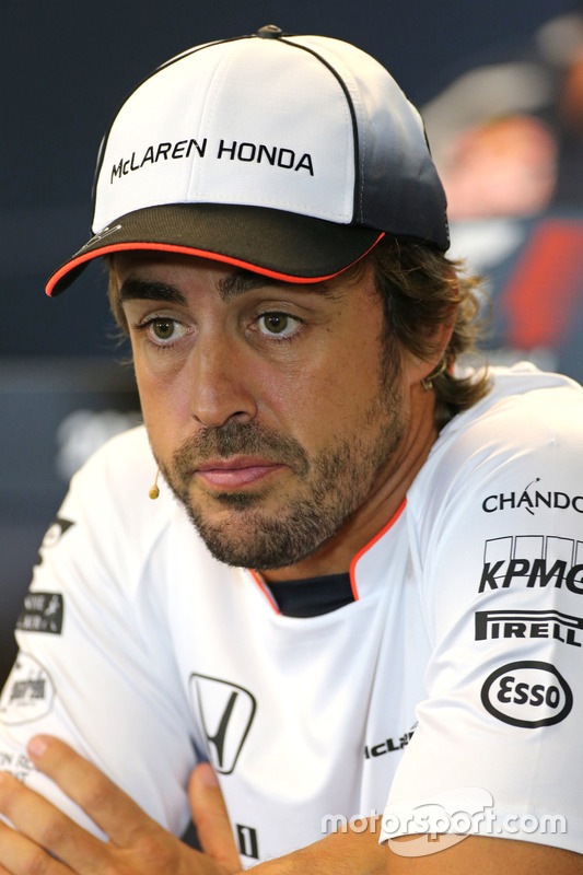 Fernando Alonso, McLaren Honda at FIA Press Conference