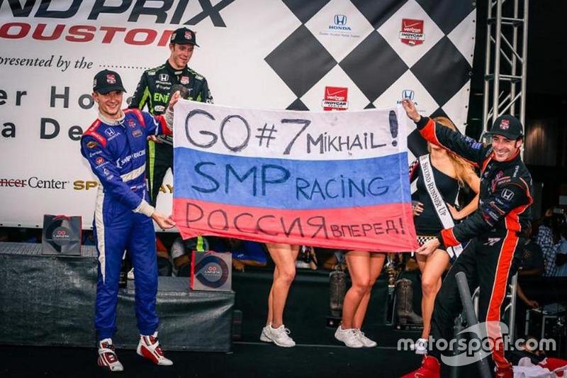 Первый подиум Михаила Алёшина в IndyCar