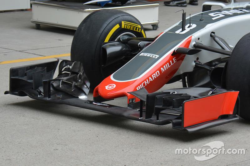 Haas F1 Team VF-16, Detail der Frontpartie