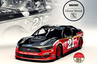 Wood Brothers Racing throwback livery