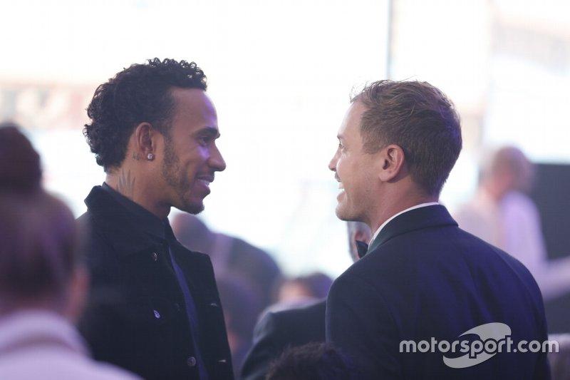 Sebastian Vettel, Ferrari et Lewis Hamilton, Mercedes-AMG F1