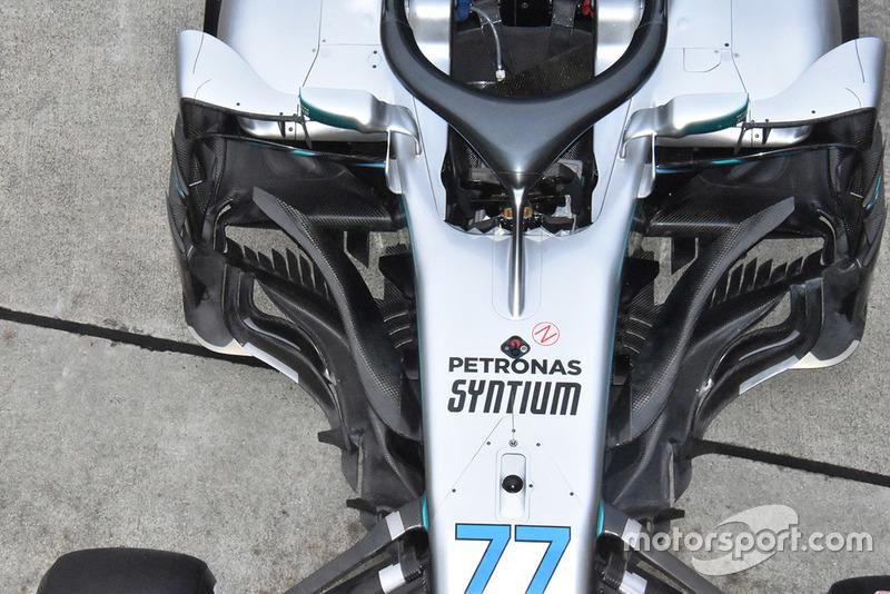 Tampak atas Mercedes-AMG F1 W09
