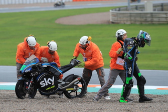Dennis Foggia, Sky Racing Team VR46, after crash
