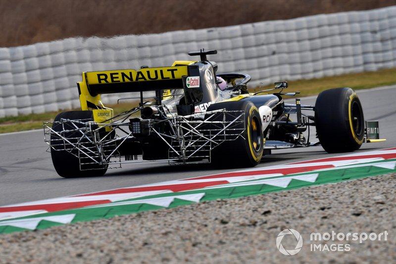 Daniel Ricciardo, Renault F1 Team R.S. 19 con sensori aerodinamici