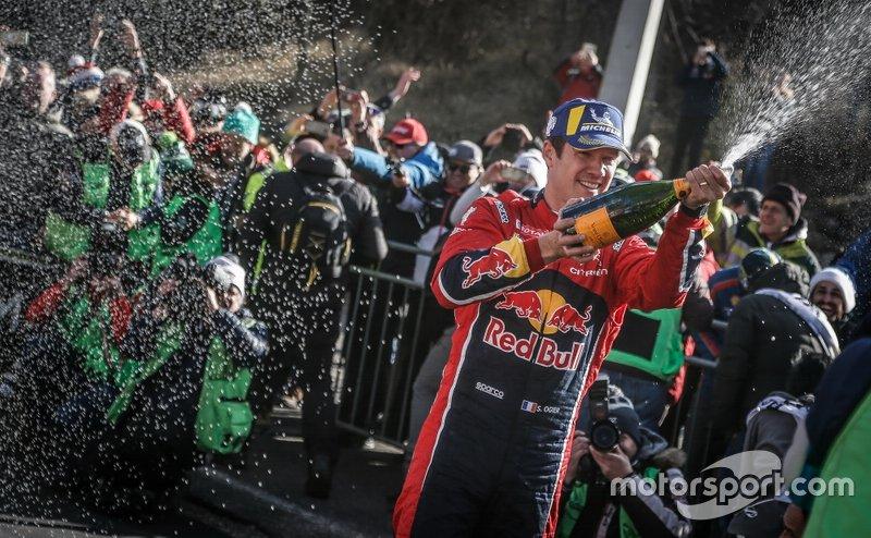 Podio: i vincitori Sébastien Ogier, Citroën World Rally Team Citroen C3 WRC