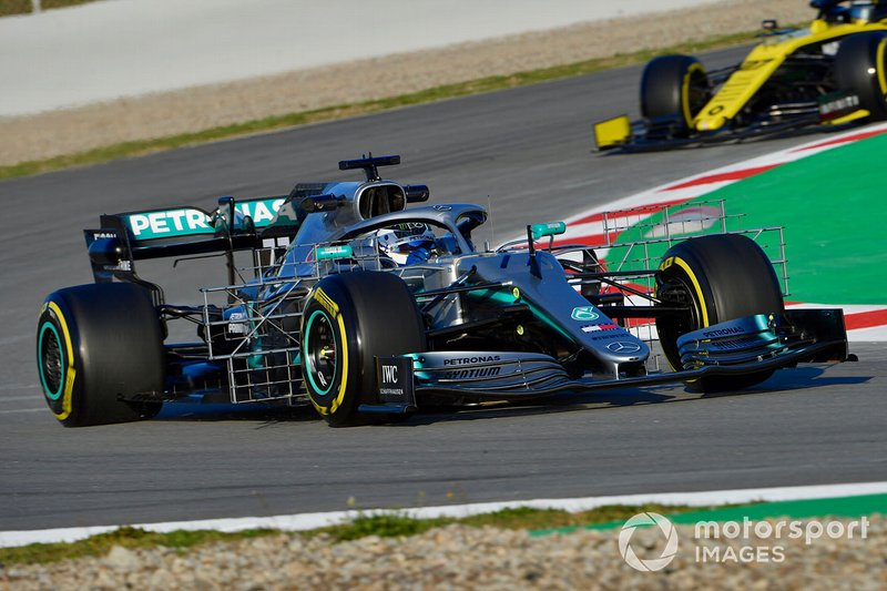 Valtteri Bottas, Mercedes-AMG F1 W10 EQ Power+ con sensores