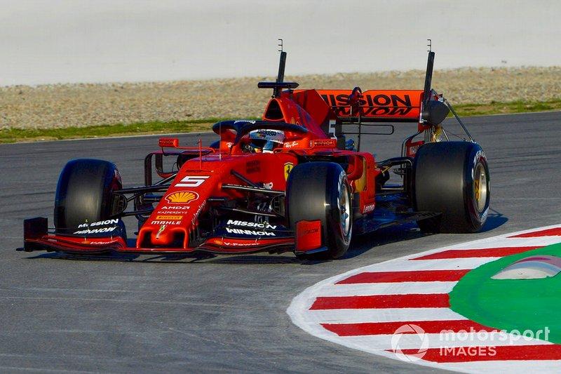 Себастьян Феттель, Ferrari SF90, з сенсорами на боліді