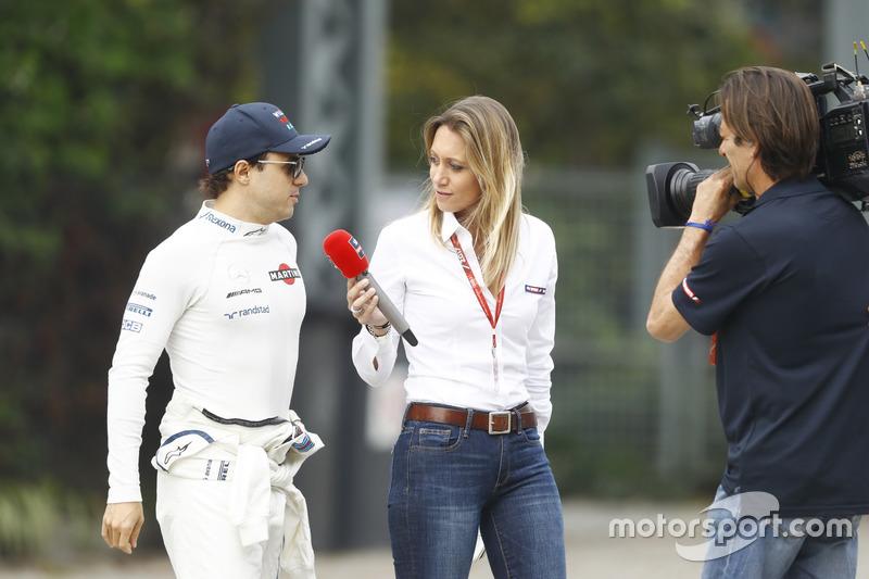 Felipe Massa, Williams, is interviewed