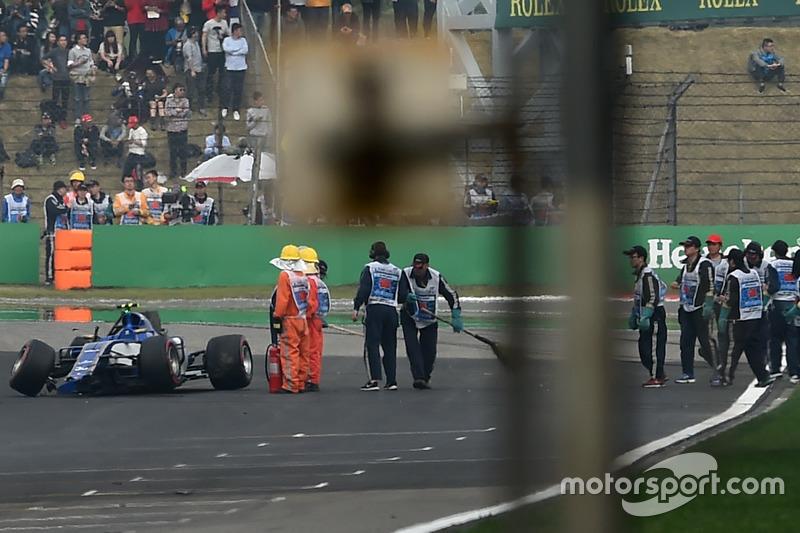 Antonio Giovinazzi, Sauber C36 tras su accidente