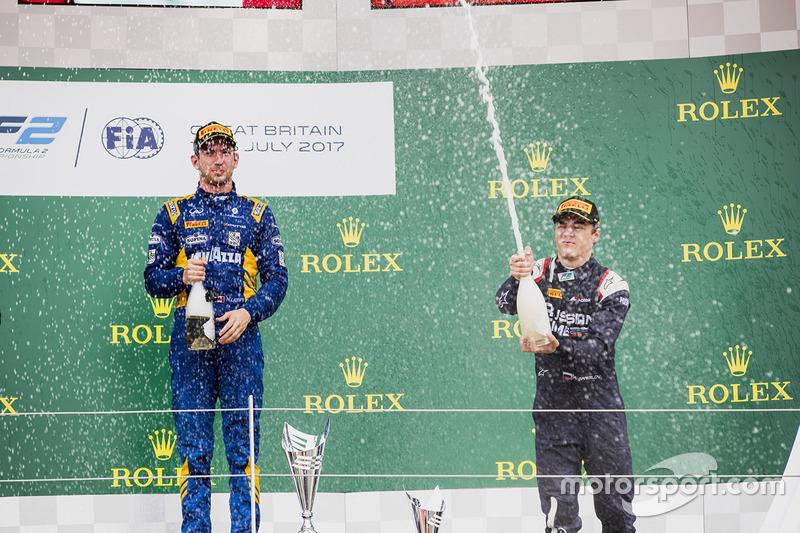 Podio: ganador de la carrera Nicholas Latifi, DAMS, tercer lugar Artem Markelov, RUSSIAN TIME