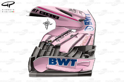 Force India VJM10 old front wing