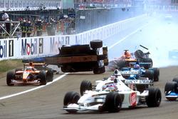 Luciano Burti, Prost AP04 crash met de Ferrari van Michael Schumacher