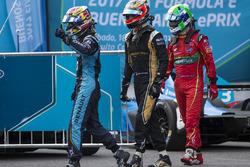 Sébastien Buemi, Renault e.Dams; Jean-Eric Vergne, Techeetah; Lucas di Grassi, ABT Schaeffler Audi Sport