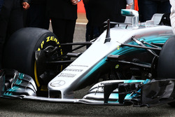 Mercedes AMG F1 W08 front wing detail