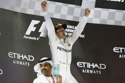 Podium: Second place Nico Rosberg, Mercedes AMG F1