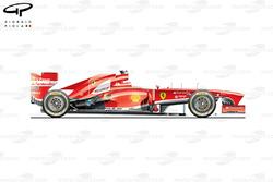 Ferrari F138 side view, Italian GP