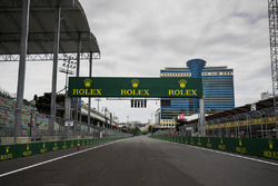 A view of the start finish/straight
