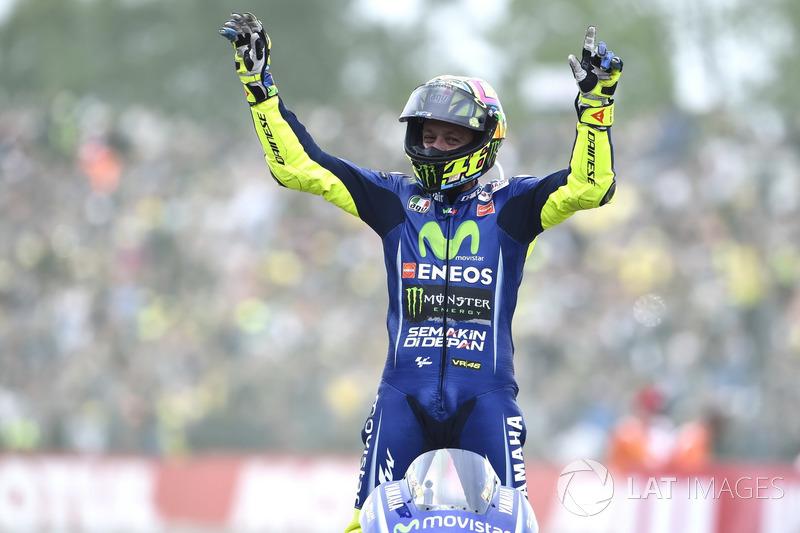 Ganhador da corrida Valentino Rossi, Yamaha Factory Racing