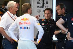 Dr Helmut Marko, Red Bull Motorsport Consultant, Max Verstappen, Red Bull Racing, Christian Horner, Red Bull Racing Team Principal, Paul Monaghan, Red Bull Racing Chief Engineer