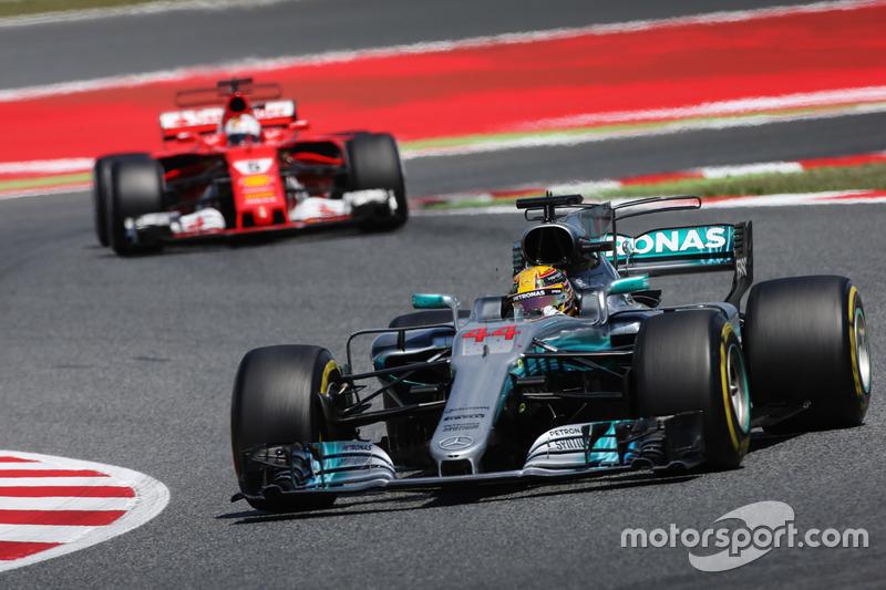 Hamilton, con casi el doble de vueltas lideradas que Vettel