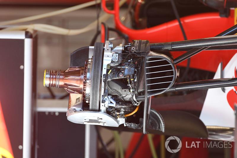 Entrada de aire del freno delantero del Ferrari SF70H