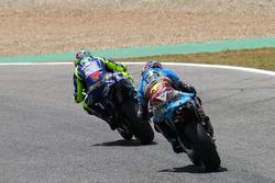 Валентино Росси, Yamaha Factory Racing, и Джек Миллер, Estrella Galicia 0,0 Marc VDS