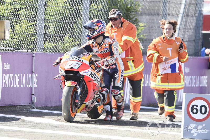 Dani Pedrosa, Repsol Honda Team dopo la caduta